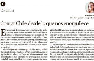 El Mercurio de Valparaíso: Contar Chile desde lo que nos enorgullece