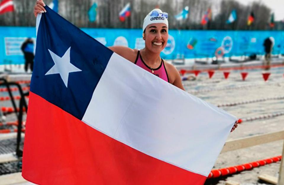 La deportista chilena y embajadora de Imagen de Chile, Bárbara Hernández, conquista 10 medallas en Siberia