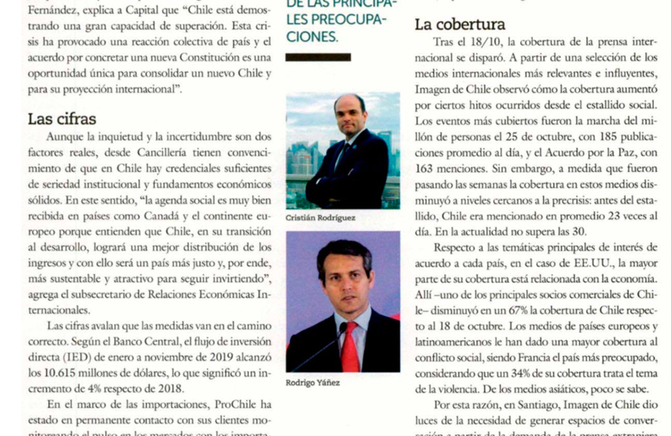 Revista Capital: La transformación de la Marca Chile