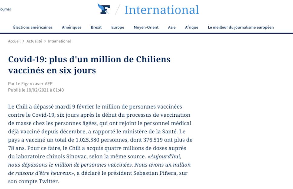 Covid-19: más de un millón de chilenos vacunados en seis días | Marca Chile