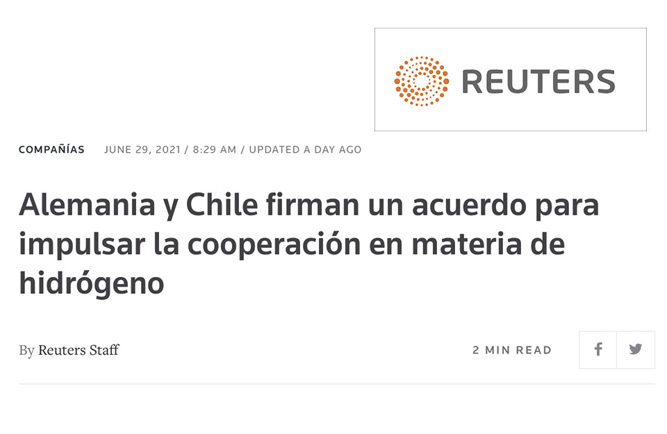 Germany and Chile sign an agreement to boost cooperation on hydrogen
