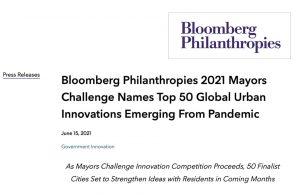 Bloomberg Philanthropies 2021 Mayors Challenge nombra las 50 principales innovaciones urbanas mundiales que emergen de una pandemia