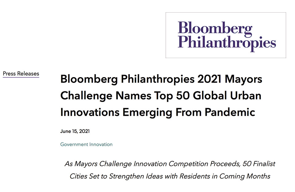 Titular: Bloomberg Philanthropies 2021 Mayors Challenge Names Top 50 Global Urban Innovations Emerging From Pandemic | Marca Chile