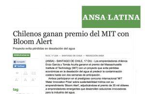 Chilenos ganan premio del MIT con Bloom Alert