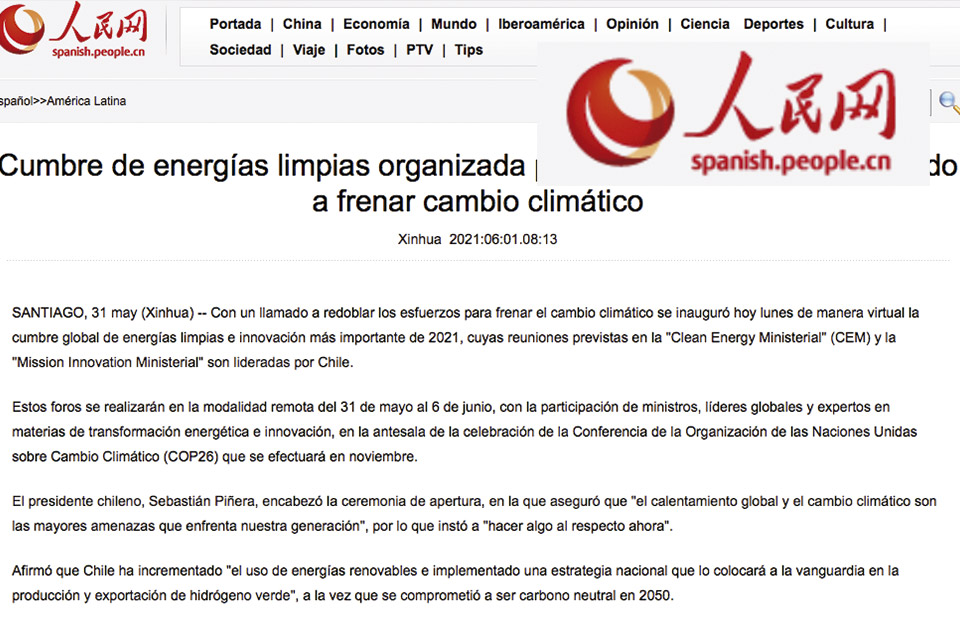 Cumbre de energías limpias organizada por Chile comienza con llamado a frenar cambio climático