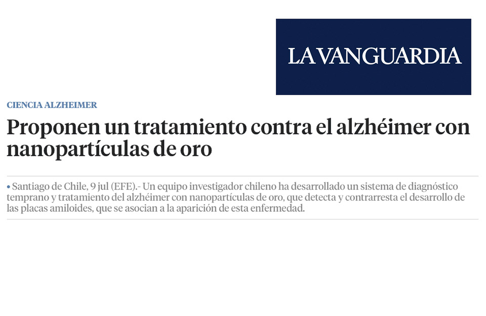 Chilean scientists propose a treatment against Alzheimer's with gold nanoparticles