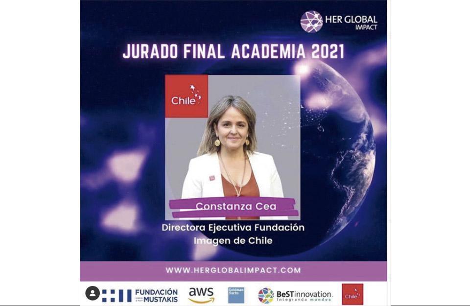 Directora ejecutiva de Imagen de Chile participa como jurado en Her Global Impact Challenge   Marca Chile