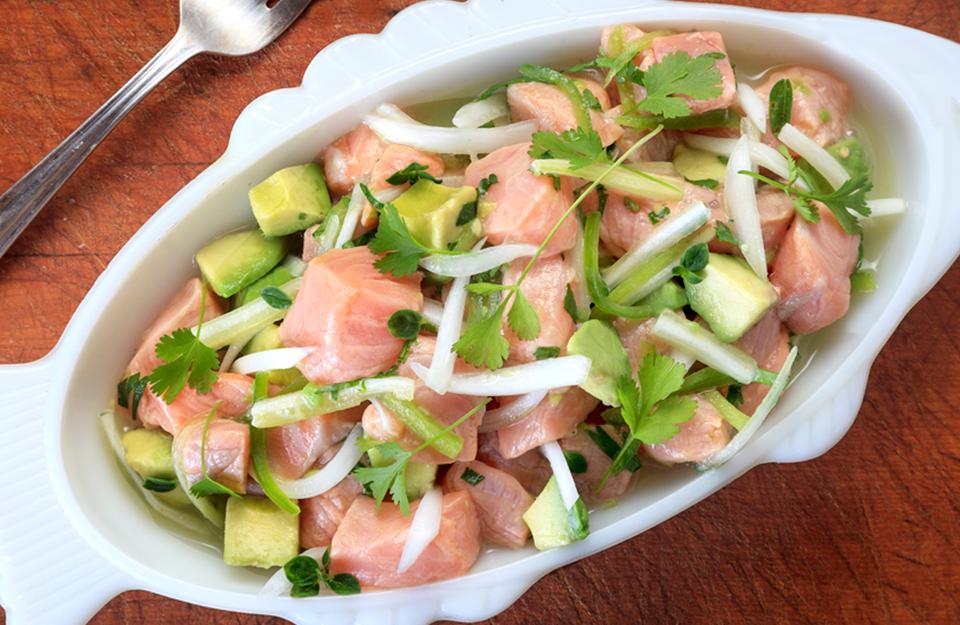 Ceviche de Salmon con Palta | Marca Chile