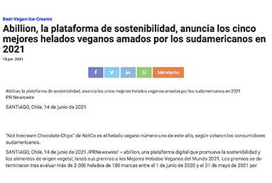 Abillion, la plataforma de sostenibilidad, anuncia los cinco mejores helados veganos amados por los sudamericanos en 2021