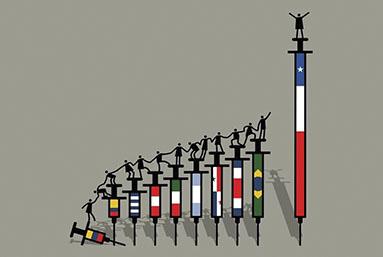 La vacunación va bien en Chile. ¿Por qué no en sus países vecinos?