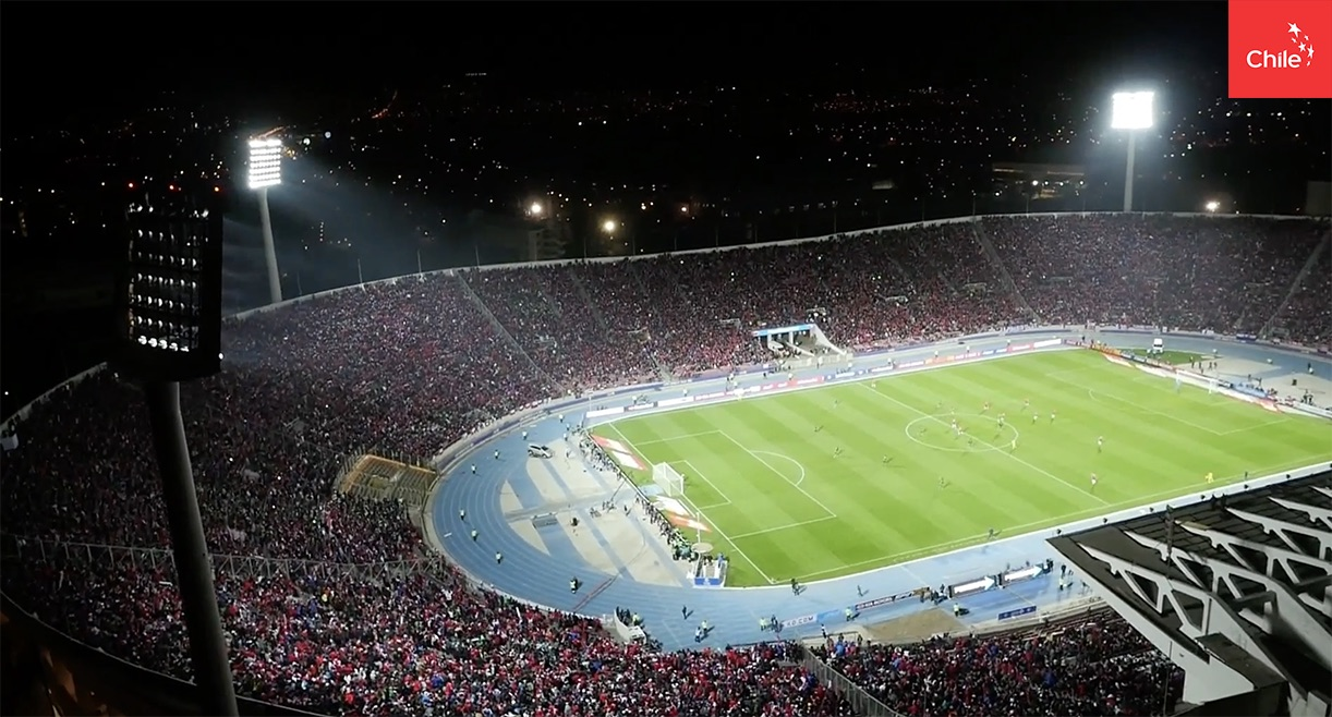 Estadio Nacional aeréa | Marca Chile | Toolkit
