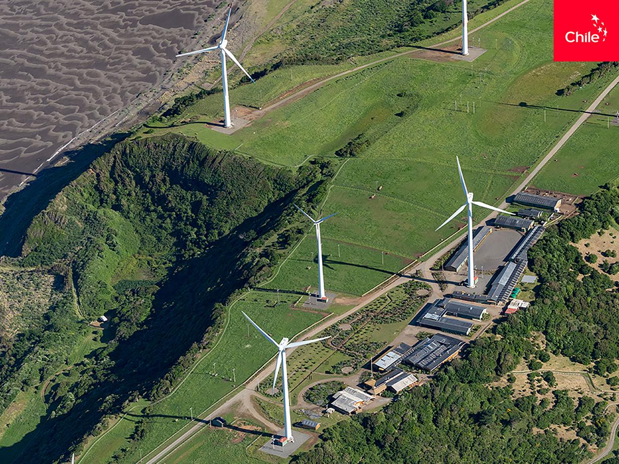 Campo eólico vista aerea | Marca Chile | Toolkit
