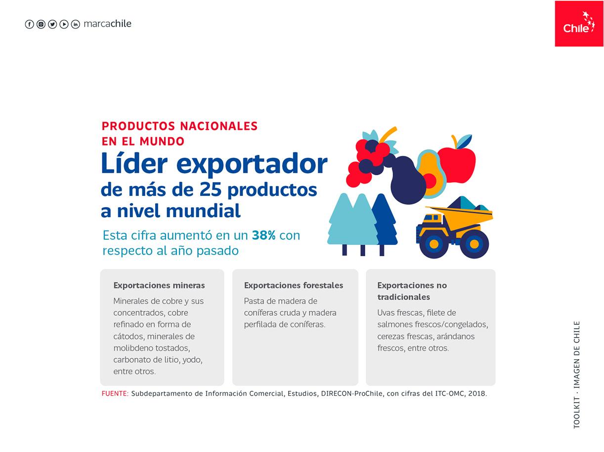 Productos nacionales en el mundo | Marca Chile | Toolkit
